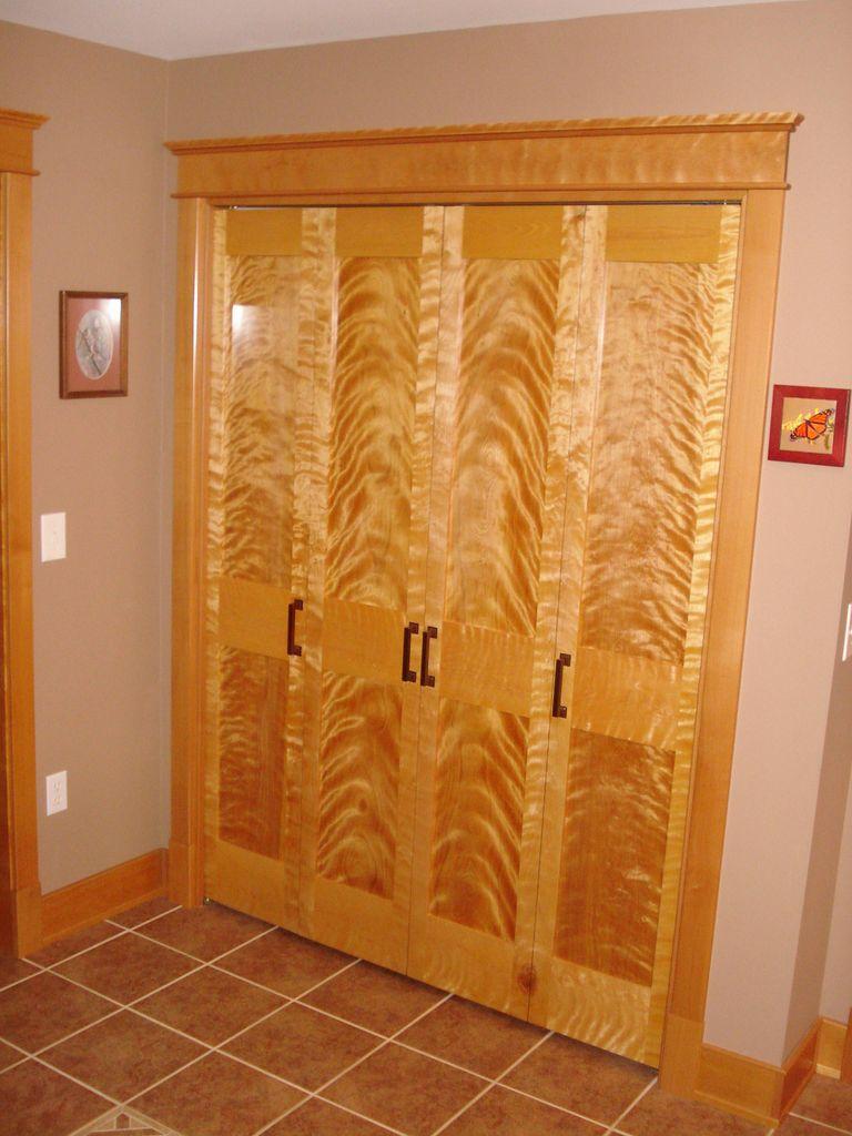 Bi-fold doors of flame birch by Garry Smith & Sault Area Arts Council -- Garry Smith Master Craftsman (Jan 2013)
